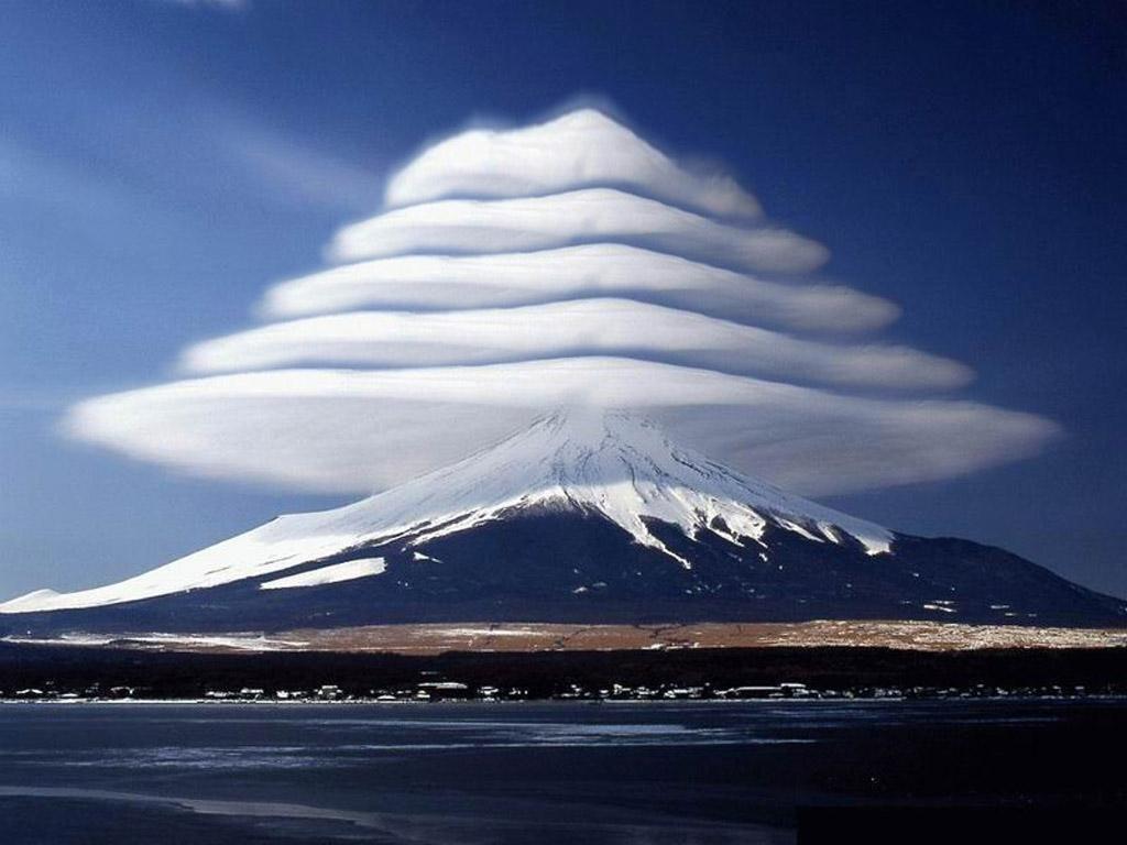 Awan Yang Langka Terjadi di Gunung Fuji