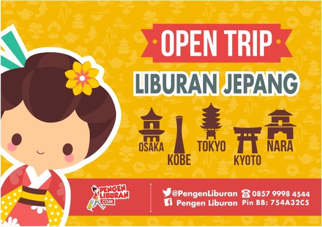 open trip paket wisata jepang