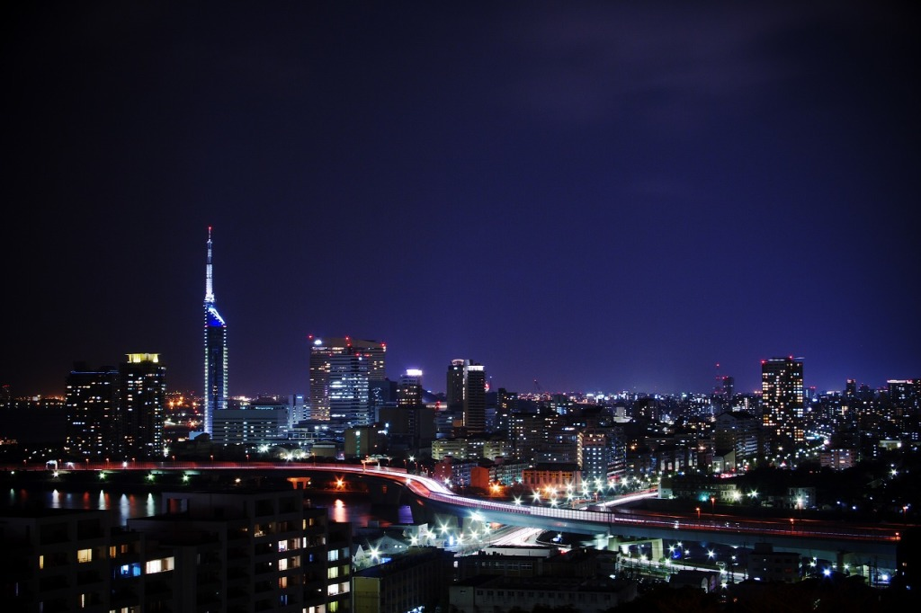 Night View of Fukuoka