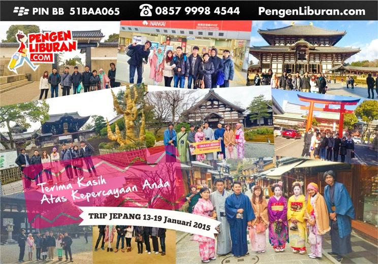 peserta paket wisata jepang pengen liburan