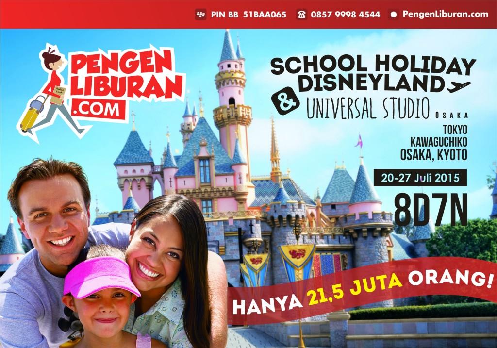 paket wisata jepang disneyland 20 - 27 juli 2015