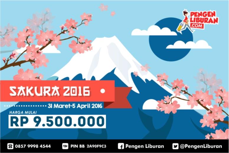 paket tour ke jepang sakura pengen liburan 2016