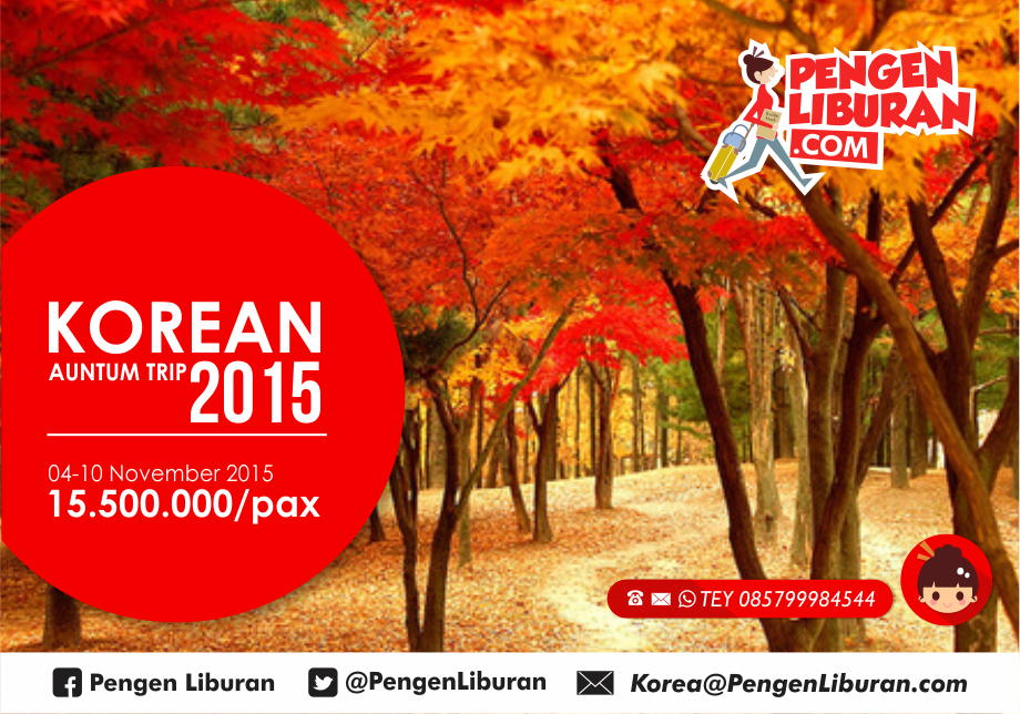 paket tour ke korea autumn november 2015