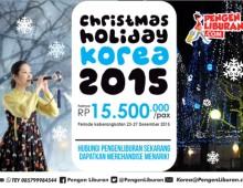 paket tour korea desember natal 2015