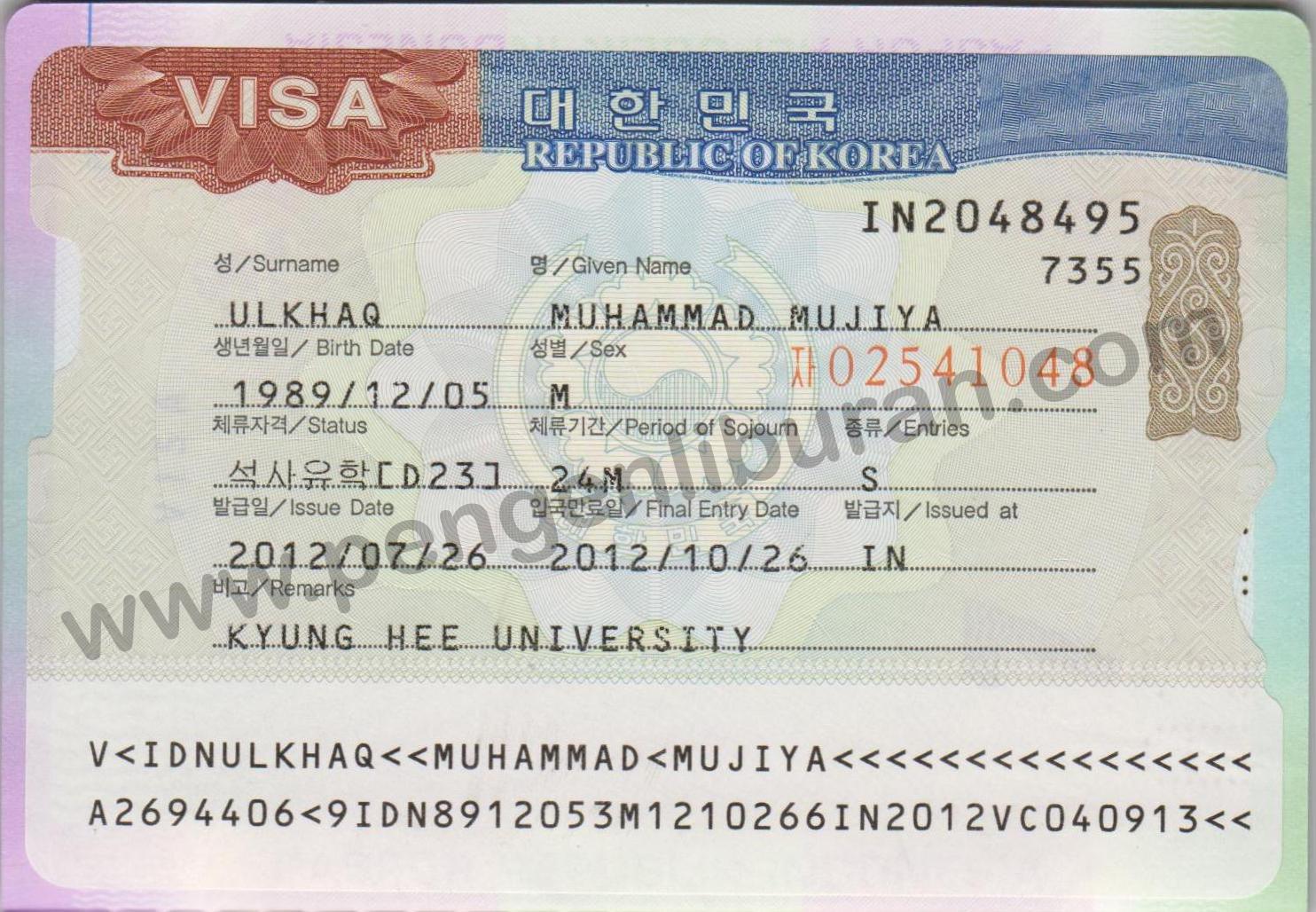 Syarat Pengajuan Visa Korea Selatan Pengen Liburan